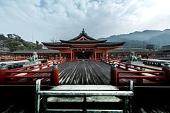 厳島神社 (Yuichi Yoshimoto) Tags: nikon d750 sigma sigma15mmf28exdgdiagonalfisheye cooljapan shrine itsukushimashrine miyajima hiroshima japan