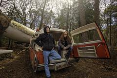 (benekliz) Tags: secondnaturephotography nikon abandoned urbex explore plane airplane ambulance antique woods forest park statepark winter hdr friends memories crash crashsite accident