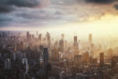 Light City (blackstation) Tags: shanghai city light skyline
