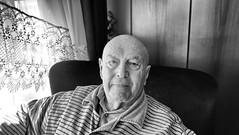 the grandfather (mustafaemek) Tags: portrait monochrome human x100t old elder grandfather man