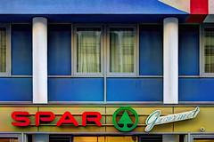 Vienna, Austria - Spar storefront - Gumpendorferstrasse, #39 (David Pirmann) Tags: vienna austria shop storefront sign text spar market window windows supermarket