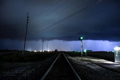 Storms over the Norfolk Southern. (Machme92) Tags: storms railroad railfanning railroads railfans rails norfolksouthern norfolk signals sky stormchaser missouri clouds skys