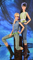 Land Girls (Lilith and Eden) (Dolldiva67) Tags: land girls lilith eden twins never ordinary nuface 2016 fashionroyalty integritytoys