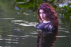 Saarah (austinspace) Tags: portrait woman lake fish water panties boat washington ramp spokane dress underwear lace bra redhead cheney maenad