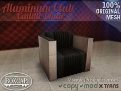 [BOXCAR] Aluminum Club Cuddle Chair (Bigwon Resident) Tags: life club shopping store chair aluminum mesh furniture sl equipment secondlife decorating cuddle second boxcar cuddles