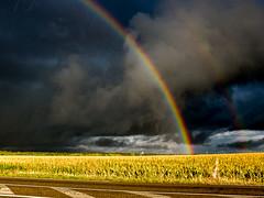 Aussitôt que l'idée du Déluge se fut rassise... (Clydomatic) Tags: lumière pluie ciel nuages arcenciel