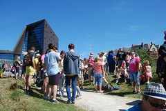 """People gathering for Plymouth Pride Parade 2015 at the Jigsaw Garden • <a style=""""font-size:0.8em;"""" href=""""http://www.flickr.com/photos/66700933@N06/20604212946/"""" target=""""_blank"""">View on Flickr</a>"""