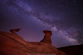Milky Way Over Stud Horse Hoodoos