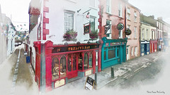 Treacy's Bar - The Nook Youghal (Digital Painting)
