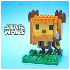nanoblock Wicket the Ewok (inanoblock) Tags: building starwars lego bricks lucasfilm disney ewok jedi blocks build kawada brickartist nanoblock  nanoblocks