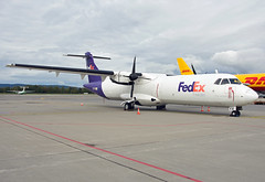 EI-FXI (Skidmarks_1) Tags: norway airport aircraft aviation cargo fedex airliners osl freighter atr72 engm aircontractors oslogardermoenairport eifxi