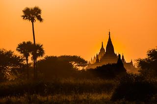 Sunset on old Bagan 2