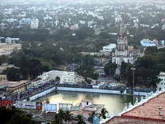 trichy (gerben more) Tags: city india building church water landscape southindia cityview trichy