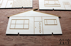 6by6Arts_PopUpVillage4 (thea superstarr) Tags: wood houses holiday modern century village handmade birch kit popup maker pnw mid midcenturymodern madeinusa mcm lasercut laserengraved 6by6arts
