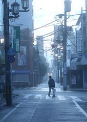 Walking in early morning mist (seiji2012) Tags: street morning mist