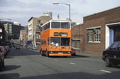 Smiths 'Yourbus', NKU569R, Bradford Street, Birmingham, 1989 (Lady Wulfrun) Tags: birmingham september 1989 smiths fleetline 28th tysoe syt bradfordstreet sypte 50y yourbus nku569r