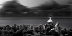 Tetrapode (meistermacher) Tags: light sea seascape art nature clouds wow landscape blackwhite seaside nikon harbour shoreline shore d200 nikkor nordsee nationalgeographic wangerooge helgoland flickrsbest flickrbest flickraward flickrdiamond blackandwhiteonly theunforgettablepictures spiekerooge aflickrexplorephoto dirkfietzfotografie