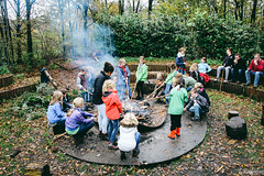Making Bread, (Tristan Roebersen) Tags: door autumn camp playing cooking tristan kids canon children bread fun outside fire eos cool child play vet awesome kinderen indoor rope kind chilling together having enschede epic chill luft ballorig kamp scouting in samen welpen welp lijp 1200d roebersen