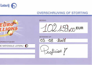Euromillions - € 102.159 op 03 aug 2007