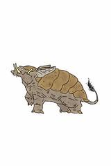 Shell Hog (nathannethis) Tags: monster piggy pig desert shell hide fantasy beast piglet creature hog boar sow snout tapir warthog tusk mythical wildboar