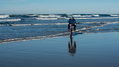 hang ten (alex1derr) Tags: beach bike bicycle sand oregoncoast cruiser beachbike annefilson
