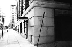 Street Shots - Baltimore, Maryland (emericusdurden) Tags: blackandwhite film contrast high grain maryland delta baltimore 3200 ilford yashica t4 emericusdurden