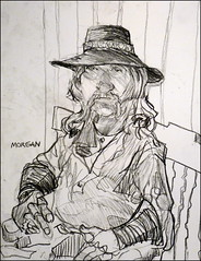 Morgan (Kerry Niemann) Tags: cowboyactor charcoaldrawing apachejunction goldfieldghosttown