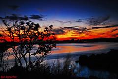 Sunset impression, Rhode Island (Bill Jonscher) Tags: sunset wild nature colors clouds reflections solitude quiet peaceful seashore unspoiled rejuvenation twilght