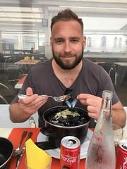 In Saint Jean de Luz eating mussels!