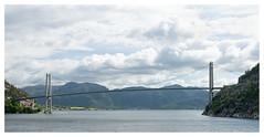 Bron (leo.roos) Tags: bridge brug bron ferry norway noorwegen 2012 spring lente darosa leoroos norwayspring2012 3152012 lysefjorden a900 sonyczvariosonnar247028 zeiss lysebotnlauvvik