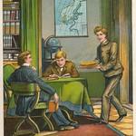 Jugend garten laube 1905  kleurenlitho  c