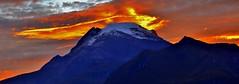 Ignis in caelum (Pedro Pablo Orozco) Tags: volcánnevadodeltolima colombia nubes nieve amanecer sol montaña tolima cordilleracentral losandes