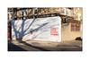 Graffiti, South East London, England. (Joseph O'Malley64) Tags: anonymous graffiti southeastlondon london england uk britain british greatbritain shoprenovation shop buildingsite sitesafety ppesite personalprotectiveequipment hs healthsafety healthsafetyatwork hordings containmentfencing fence scaffold scaffolding render brickwork bricksmortar pointing windows blueplaque steelsecuritymesh shutter rollershutter pavement granitekerbing tarmac droppedkerb doubleyellowlines noparkingatanytime parkingrestrictions construction urban urbanlandscape aerosol cans spray paint tree shadow