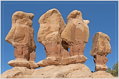 Hoodoo Wise Men (Explored) (Runemaker) Tags: devilsgarden holeintherockroad escalante utah grandstaircase nationalmonument rockformation nature landscape hoodoos redrock desert wilderness
