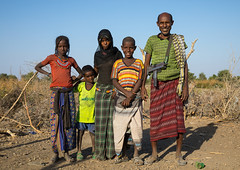 Portrait of an Afar tribe family, Afar region, Chifra, Ethiopia (Eric Lafforgue) Tags: afar africa africanculture africans attire chifra children colorful colourpicture colourful costume culture danakil eastafrica ethio17633 ethiopia ethiopians ethnology family fulllenght horizontal hornofafrica indigenousculture islam lookingatcamera machinepistol men muslims nomadicpeople nomads outdoors pastoralists people photography portrait shawl traditional traditionalclothing tribal uzi veiled weapon women afarregion et