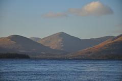 Loch Lomond-Rule of Thirds (katy1279) Tags: dogwood52 dogwood2017 dogwood52week1 scotland lochlomond sky hills water bluesky trossachs creachanhill