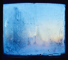 Frosted Window - 2 (HeavenridgeFilms) Tags: sony zeiss 55mm 18 f18 cold winter frost ice