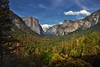 A Wide Angle Setting at Tunnel View to Take in Yosemite Valley (Yosemite National Park) (thor_mark ) Tags: nikond800e lookingeast day6 triptopasoroblesandyosemite yosemitenationalpark capturenx2edited colorefexpro tunnelview halfdome pacificranges sierranevada yosemiterittersierranevada centralyosemitesierra yosemitevalley outside trees hillsideoftrees blueskieswithclouds mountains mountainsindistance mountainsoffindistance nearsunset sunsettime sunsetlight evergreens landscape nature bridalveilfall cathedralrocks falls waterfall waterfalls 617ft188metres ahwahneecheenamepohono spiritofthepuffingwind 3000feethighgranitemonolith 900meterhighgranitemonolith elcapitan totokonoolah mountainside sentinelpoint cloudsrest sentinelrock contrail canvas portfolio project365 california unitedstates