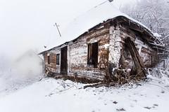 Derelict... / Abandonado... (toncheetah) Tags: derelict abandoned haze mist winter cottage fog wood wooden tree village bosnia bosna frozen frost snowy