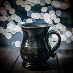 Cuppa (Manadh) Tags: cup mug bokeh lights manadh pentax k3 sigma 1835mm dark