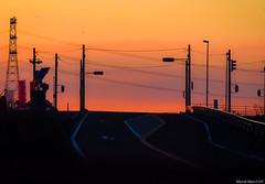 冬空☆電線わるつ (March Hare1145) Tags: 日本 japan 夕日 夕焼け sunset orange シルエット silhouette