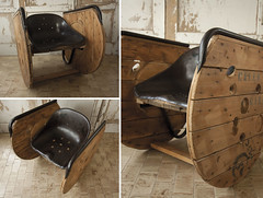 Sedia a dondolo  - MadeInGarage - Pezzo unico (Officina Vintage) Tags: sedia dondolo seduta trattore bonina