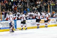 "Missouri Mavericks vs. Wichita Thunder, January 6, 2017, Silverstein Eye Centers Arena, Independence, Missouri.  Photo: John Howe / Howe Creative Photography • <a style=""font-size:0.8em;"" href=""http://www.flickr.com/photos/134016632@N02/32191506836/"" target=""_blank"">View on Flickr</a>"