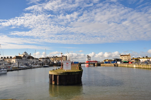 A bright January day at Lowestoft harbour
