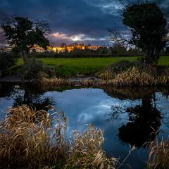 Last Light (cogy) Tags: royal canal kilcock kildare ireland sunset boycetown church reflection square peaceful