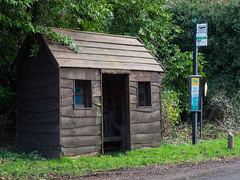 Rural Hampshire Bus Shelter (fstop186) Tags: timber busstop busshelter planks sawmill rustic rural hampshire village countryside bus stop shelter