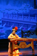 Chinese performer (Margarets Photos) Tags: travel asia transmongolian china xian performer instrument blue gold