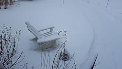 January Snow (Mamluke) Tags: snow chair garden path crook lantern adirondackchair adirondack wood snowfall covered winter mamluke home minnesota