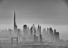 Morning mist in Dubai (DepictingPhotos) Tags: dubai mist blackwhite
