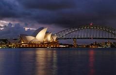 Sydney opera house ( 3 ) (linwujin) Tags: sydney operahouse australia harbour bridge night light cloud sunset fujifilm xt1 xf1655 papular water city